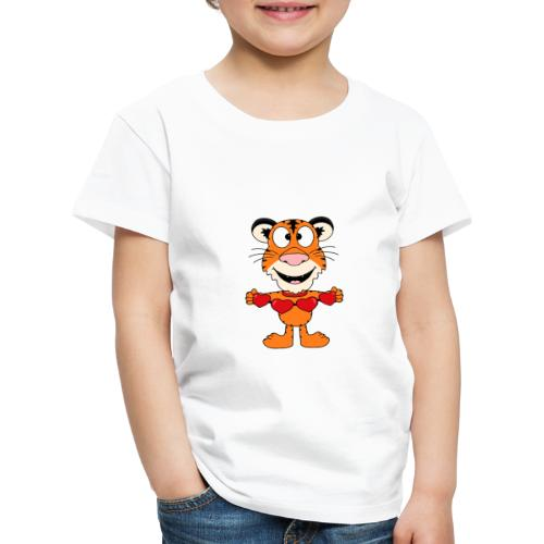 Lustiger Tiger - Herzen - Liebe - Love - Fun - Kinder Premium T-Shirt