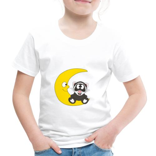 Lustiges Frettchen - Mond - Kind - Baby - Fun - Kinder Premium T-Shirt