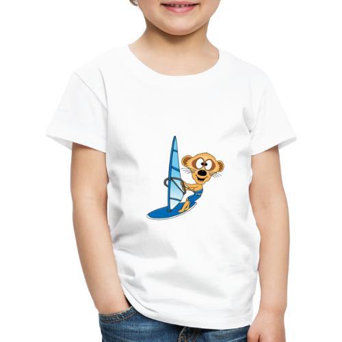 Lustiges Erdmännchen - Surfer - Windsurfer - Fun - Kinder Premium T-Shirt