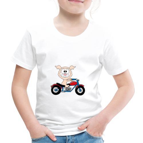 Lustiges Lama - Alpaka - Motorrad - Biker - Fun - Kinder Premium T-Shirt