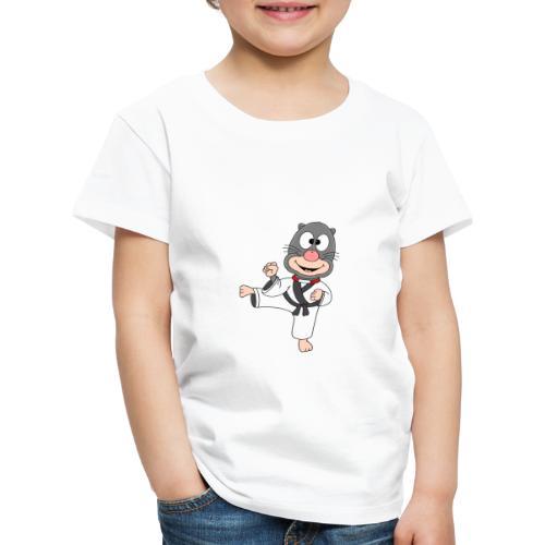 Lustiger Maulwurf - Selbstverteidigung - Karate - Kinder Premium T-Shirt