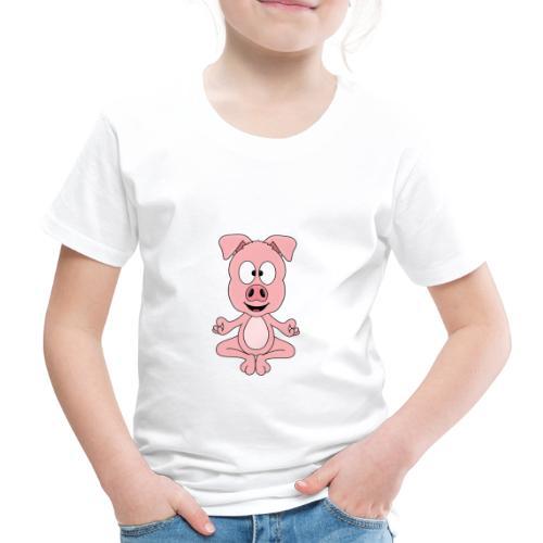 Lustiges Schwein - Yoga - Chill - Relax - Tier - Kinder Premium T-Shirt