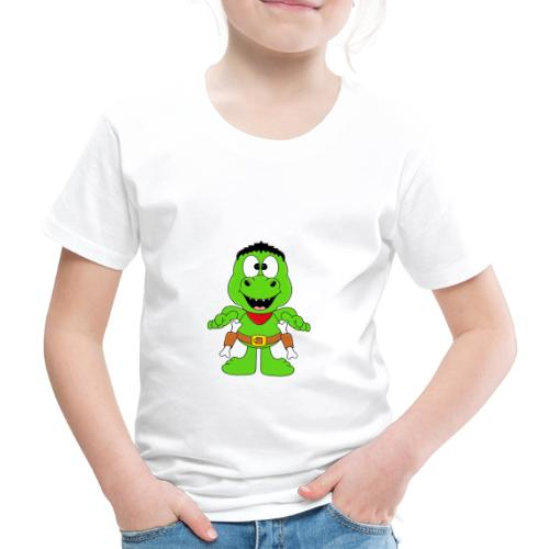Lustiger Dino - Dinosaurier - Cowboy - Western - Kinder Premium T-Shirt