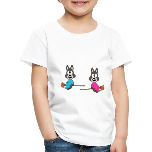 Wölfe - Hexenbesen - Kind - Baby - Tier - Fun - Kinder Premium T-Shirt