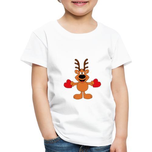Reh - Wild - Jäger - Herzen - Liebe - Love - Tier - Kinder Premium T-Shirt