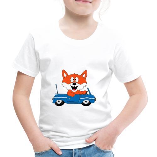 Fuchs - Auto - Cabrio - Tier - Führerschein - Fun - Kinder Premium T-Shirt