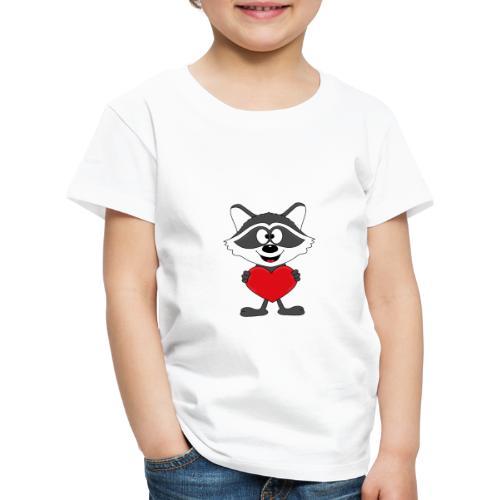 Waschbär - Herz - Liebe - Love - Kind - Tier - Kinder Premium T-Shirt
