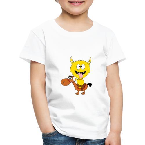 Monster - Pferd - Reiten - Pony - Kind - Baby - Kinder Premium T-Shirt