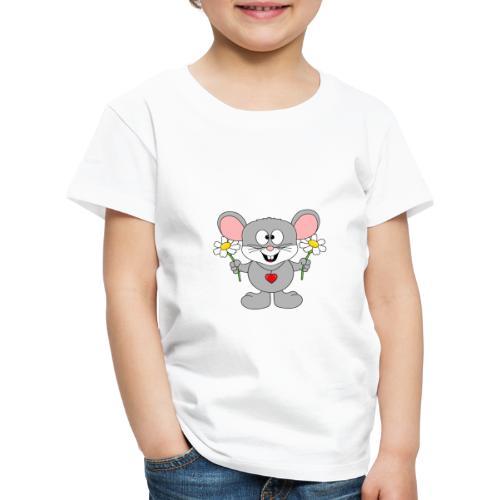 Maus - Blumen - Garten - Gärtner - Liebe - Love - Kinder Premium T-Shirt