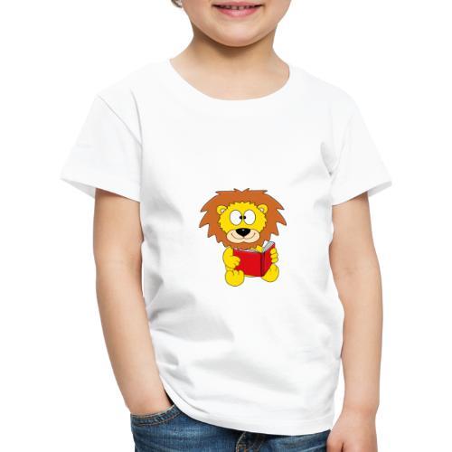 Löwe - Buch - Lesen - Geschichte - Kind - Tier - Kinder Premium T-Shirt
