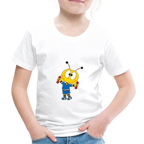 Biene - Fitness - Handeln - Muskeln - Sport - Kinder Premium T-Shirt