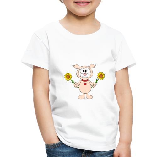 Lama - Alpaka - Sonnenblumen - Tier - Liebe - Kinder Premium T-Shirt