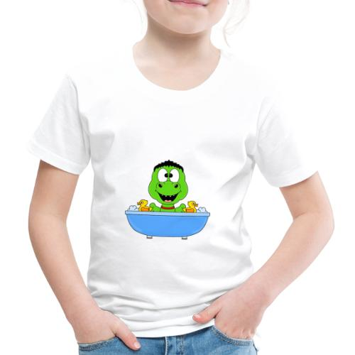Dinosaurier - Badewanne - Kind - Baby - Fun - Kinder Premium T-Shirt