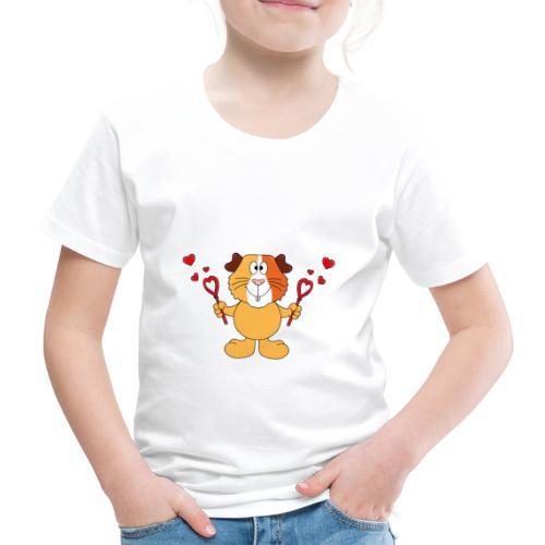 Meerschweinchen - Seifenblasen - Herzen - Liebe - Kinder Premium T-Shirt