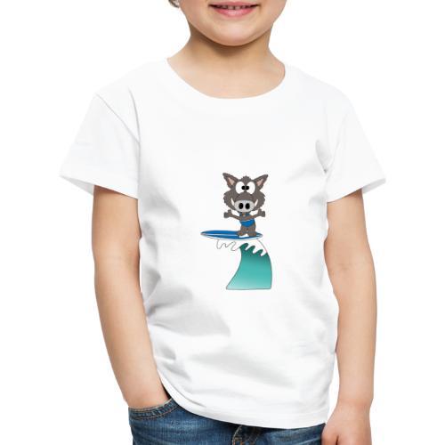 Wildschwein - Welle - Surfer - Wellenreiter - Kinder Premium T-Shirt