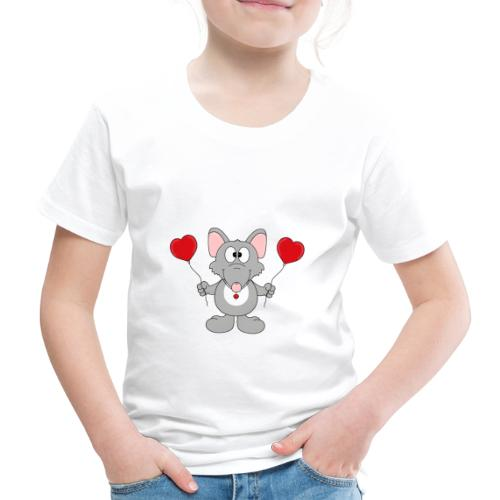 Ratte - Herzen - Luftballons - Geschenk - Tier - Kinder Premium T-Shirt