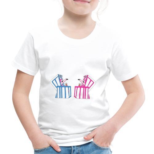 Flamingos - Strandkorb - Eis - Sommer - Urlaub - Kinder Premium T-Shirt