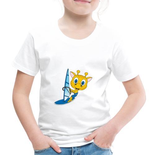 Giraffe - Surfer - Windsurfer - Wassersport - Kinder Premium T-Shirt