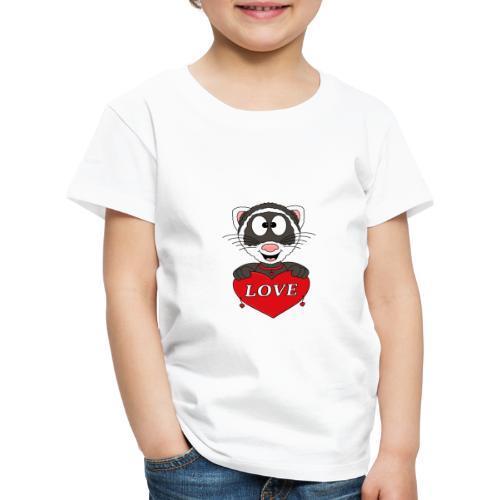 Frettchen - Herz - Liebe - Love - Tier - Kind - Kinder Premium T-Shirt