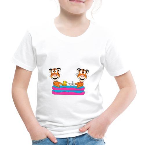 Tiger - Pool - Planschbecken - Sommer - Urlaub - Kinder Premium T-Shirt