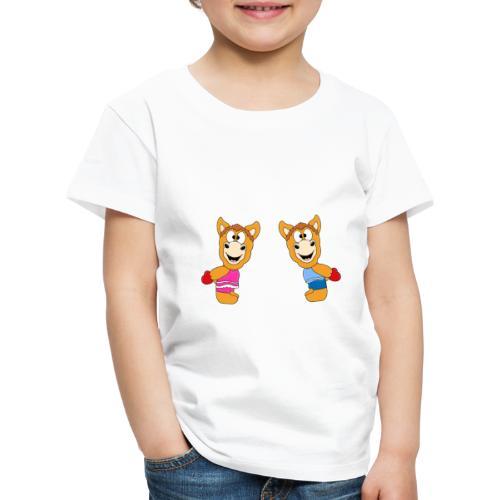 Pferde - Ponys - Reiten - Herzen - Liebe - Love - Kinder Premium T-Shirt
