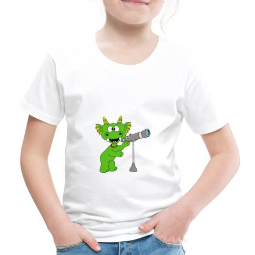 Drache - Teleskop - Astronom - Sterne - Kinder - Kinder Premium T-Shirt