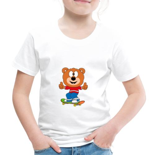 Teddy - Bär - Skateboard - Sport - Kind - Baby - Kinder Premium T-Shirt