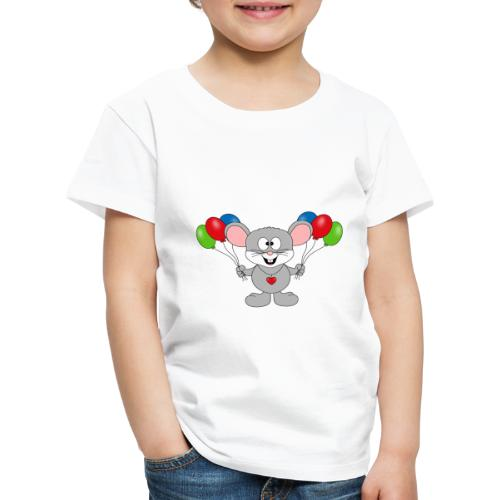 Maus - Luftballons - Geburtstag - Party - Kind - Kinder Premium T-Shirt