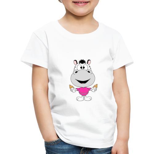 Zebra - Baby - Nachwuchs - Fläschchen - Milch - Kinder Premium T-Shirt