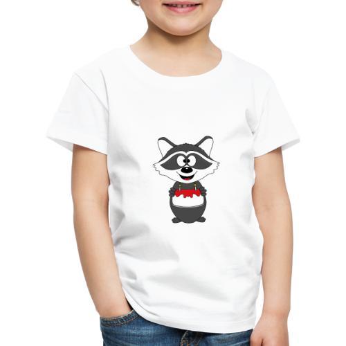 Waschbär - Geburtstag - Torte - Kind - Tier - Baby - Kinder Premium T-Shirt