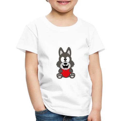 Wolf - Herz - Liebe - Love - Tier - Kind - Baby - Kinder Premium T-Shirt