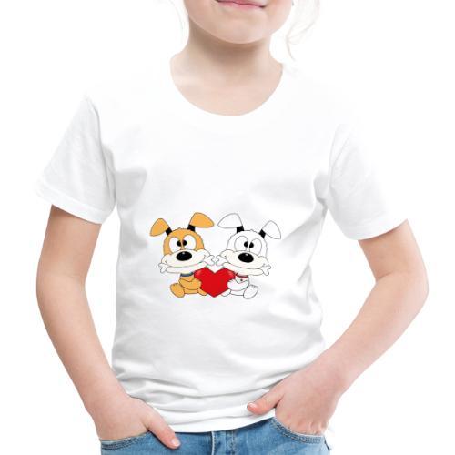 Hunde - Herz - Liebe - Love - Kind - Baby - Tier - Kinder Premium T-Shirt