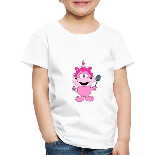 Einhorn - Badminton - Federball - Sport - Kind - Kinder Premium T-Shirt