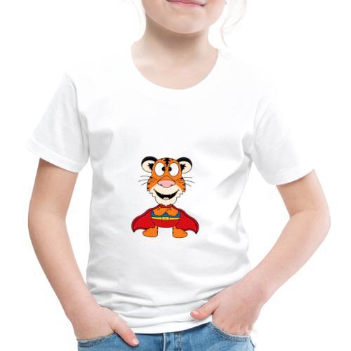 Tiger - Superheld - Kind - Baby - Fun - Kinder Premium T-Shirt