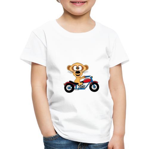 Erdmännchen - Motorrad - Biker - Kind - Baby - Kinder Premium T-Shirt