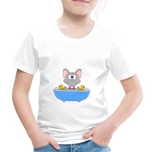 Ratte - Badewanne - Kind - Baby - Tier - Fun - Kinder Premium T-Shirt