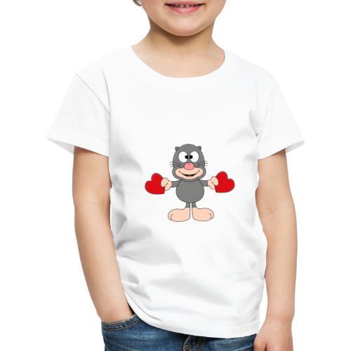 Maulwurf - Herzen - Liebe - Love - Kind - Tier - Kinder Premium T-Shirt