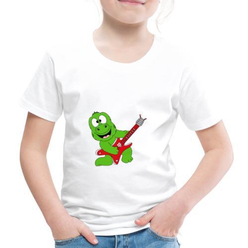 Gecko - Echse - Musik - Gitarre - Liebe - Fun - Kinder Premium T-Shirt