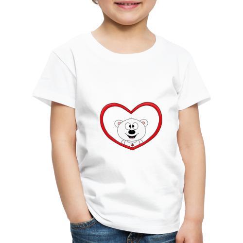 Eisbär - Bär - Teddy - Herz - Liebe - Love - Fun - Kinder Premium T-Shirt