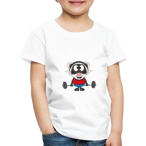 Frettchen - Fitness - Sport - Tier - Kind - Baby - Kinder Premium T-Shirt