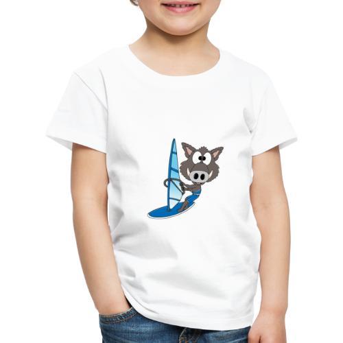 Wildschwein - Surfer - Windsurfer - Sport - Kinder Premium T-Shirt