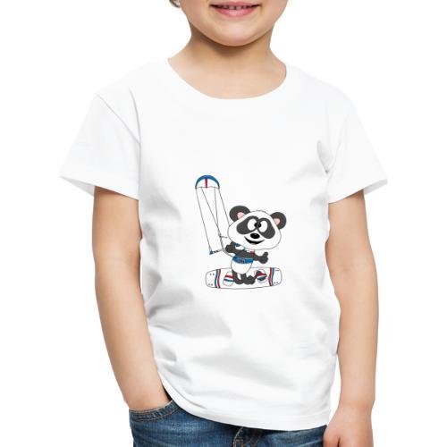 Panda - Bär - Kite - Kitesurfer - Kitesurfen - Fun - Kinder Premium T-Shirt