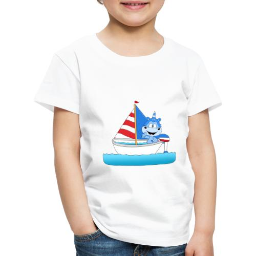 Einhorn - Segeln - Boot - Schiff - Kapitän - See - Kinder Premium T-Shirt