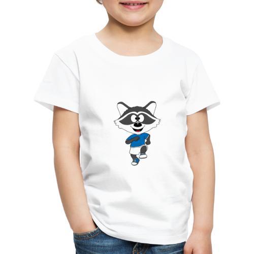 Waschbär - Joggen - Laufen - Sport - Tier - Kinder Premium T-Shirt