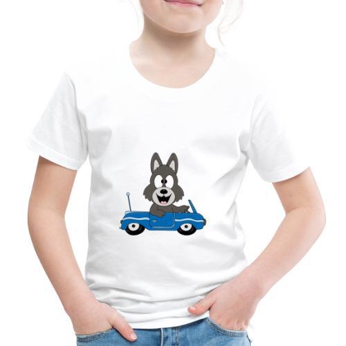 Wolf - Auto - Cabrio - Führerschein - Fahrschule - Kinder Premium T-Shirt