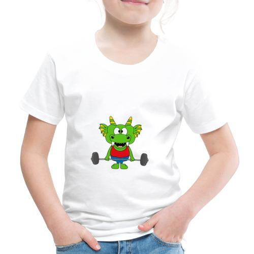 Drache - Dragon - Fitness - Gewichtheber - Sport - Kinder Premium T-Shirt