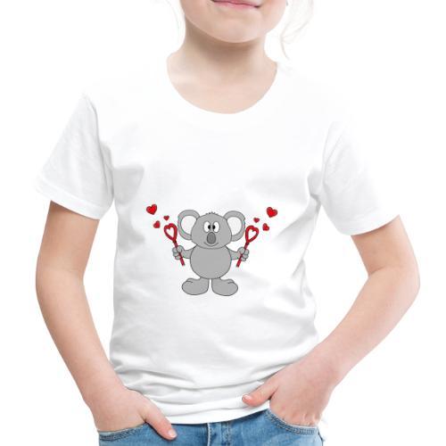Koala - Bär - Seifenblasen - Herzen - Liebe - Love - Kinder Premium T-Shirt