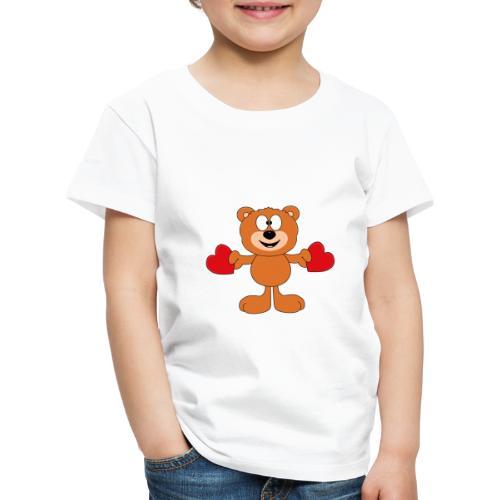 Teddy - Bär - Herzen - Liebe - Love - Tier - Kinder Premium T-Shirt