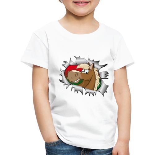 Lustiges Pferde Design Reiten - Kinder Premium T-Shirt