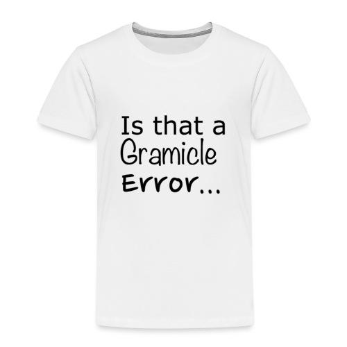 Gramicle Error - Kids' Premium T-Shirt